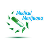 Vector medical marijuana concept Royalty Free Stock Images