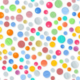 Vector medical pattern with pills. Stock Image