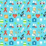 Vector medical pattern Stock Photos