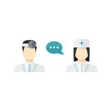 Vector medical people Stock Photography