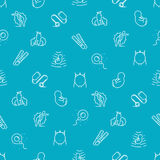 Vector medical seamless pattern stages pregnancy on blue background Stock Photography