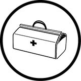 Vector medical suitcase icon Stock Images