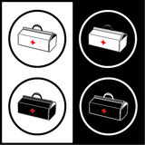 Vector medical suitcase icons Royalty Free Stock Images