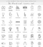 Vector Medical ultra modern outline line icons for web and apps. Royalty Free Stock Image