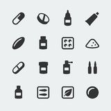Vector medications icons set. Vector medications mini icons set Royalty Free Stock Images