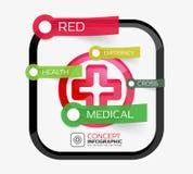 Vector medicine cross infographic concept Stock Photography