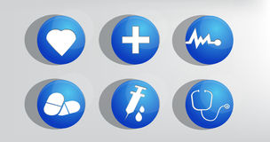 Vector Medicine & Heath Care icon Royalty Free Stock Image