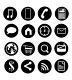 Vector Medien-Ikonen-Bild über Medien und Informationsbildung stockfotografie