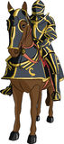 Vector medieval knight in armor on horseback Royalty Free Stock Image