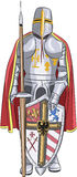 Vector.  Medieval knight. Royalty Free Stock Photos