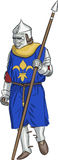 Vector medieval knight Royalty Free Stock Photo