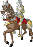 Vector medieval knight Stock Photography