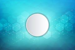Vector medische achtergrond van zeshoeken Geometrische elementen van ontwerp voor moderne mededelingen, geneeskunde, wetenschap e royalty-vrije illustratie