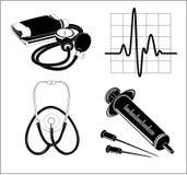 Vector medische pictogrammen Stock Foto