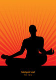 Vector meditation man wallpaper Stock Images