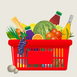 Vector Mediterranean shopping cart Stock Photo