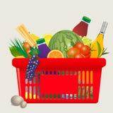 Vector Mediterranean shopping cart royalty free illustration