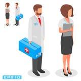 Vector medizinische Arbeitskräfte der Illustration, auf einem weißen Hintergrund Lizenzfreies Stockfoto