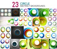 Vector mega collection of circle geometric backgrounds and banners for your text Royalty Free Stock Photos