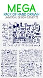 Vector mega collection of hand drawn business, economy and social elements. Ideas and concepts Royalty Free Stock Photos