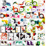 Vector mega set of abstract geometric backgrounds Royalty Free Stock Photo