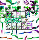 Vector mega set of abstract geometric backgrounds Stock Photos