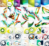 Vector mega set of abstract geometric backgrounds Stock Images