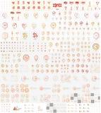 Vector mega set of linear stamp logos Royalty Free Stock Image