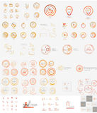 Vector mega set of linear stamp logos Stock Photos