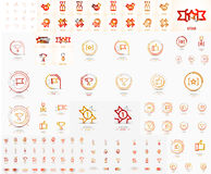 Vector mega set of linear stamp logos Royalty Free Stock Photography