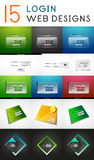 Vector mega set of login web design elements Royalty Free Stock Photography
