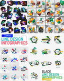 Vector mega set of modern business infographic Stock Photography