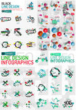 Vector mega set of modern business infographic Royalty Free Stock Photos