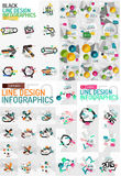 Vector mega set of modern business infographic Stock Image