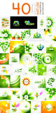 Vector mega set of nature concepts Stock Photography