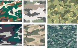 Vector mega set of seamless camouflage Royalty Free Stock Photo