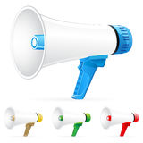 Vector megaphone icons Stock Photos