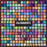 Vector megareeks van 244 gradiënten Stock Foto