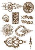 Vector mehendy illustratie Royalty-vrije Stock Fotografie