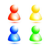 Vector member / people icon Royalty Free Stock Images