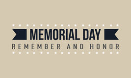 Vector of memorial day theme Stock Image