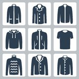 Vector men's clothes icons set Stock Photography