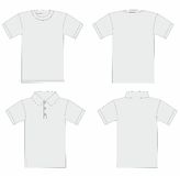 Vector. Men's t-shirt and polo shirt template. Vector. T-shirt and polo shirt template Stock Photography