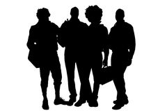 Vector men silhouette. Royalty Free Stock Images