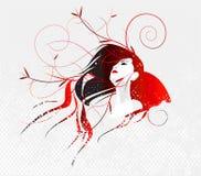 Vector a menina da mola Imagens de Stock Royalty Free