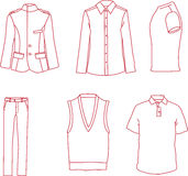 Vector Mens Clothing Stock Images