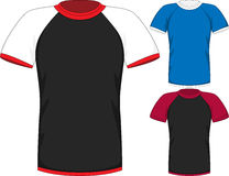 Vector Mens short sleeve t-shirt design templates royalty free stock image