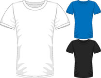 Vector Mens short sleeve t-shirt design templates Stock Photo