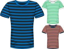 Vector Mens short sleeve t-shirt design templates Royalty Free Stock Photography