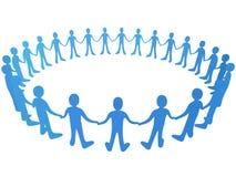 Vector Mensen in Cirkel Royalty-vrije Stock Afbeeldingen